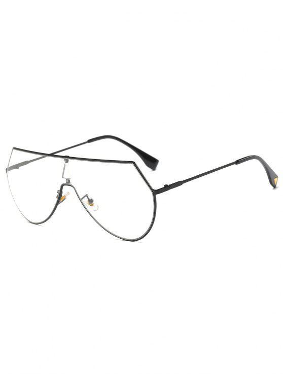 Transparentes Lens Escudo Sunglasses - Preto