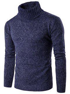 Rollkragen Knit Blends Langarm Sweater - Cadetblue M