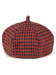 Crochet Windmill Painter Beret - Orange
