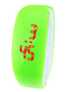 Plastic LED Digital Watch - Green