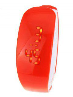 Plastic LED Digital Watch - Red