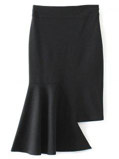 Asymmetric Trumpet Skirt - Black M