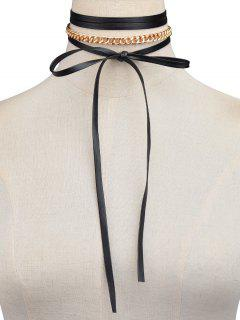 Bowknot Chain Necklace - Golden