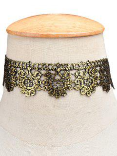 Flower Wide Choker - Golden