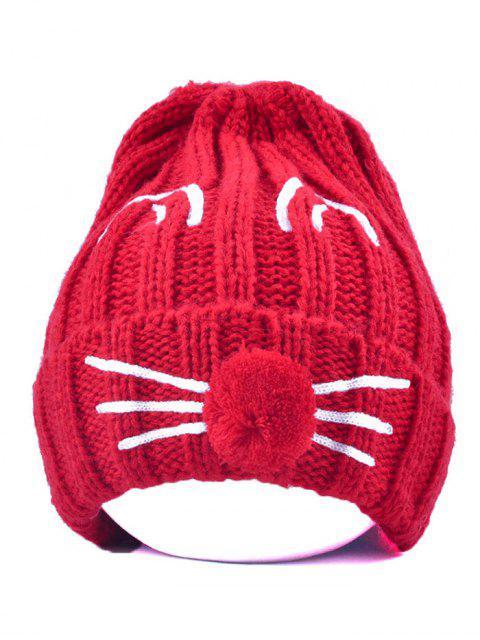 latest Cat Beard Pom Ball Stripy Beanie -   Mobile