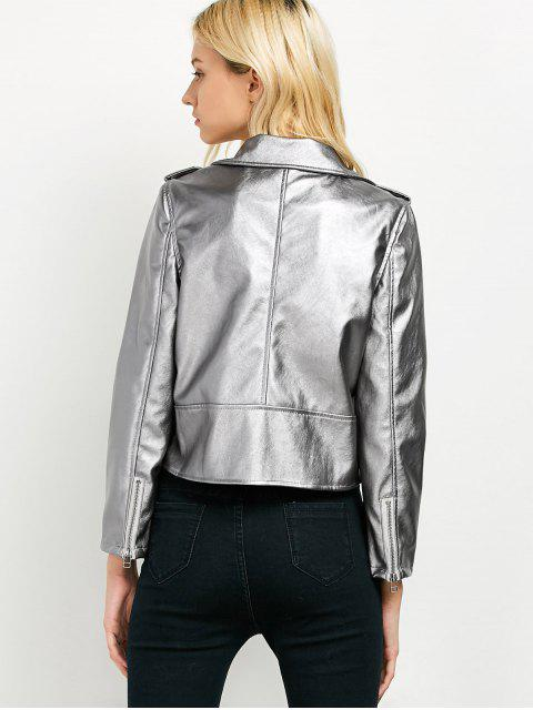 latest Cropped Motorcycle Jacket - FROST 2XL Mobile