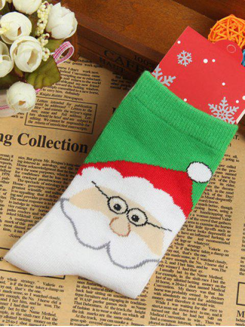 shops Pair of Santa Clau Jacquard Knitted Socks -   Mobile