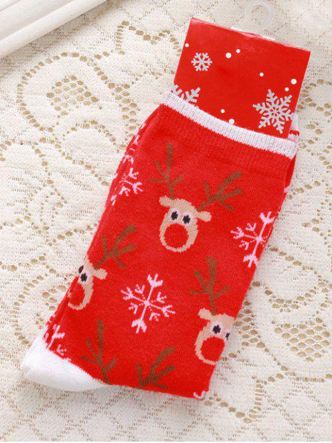 online Pair of Deer Jacquard Christmas Knitted Socks -   Mobile