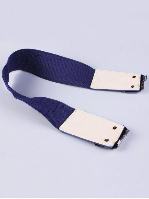 chic Smooth Alloy Buckle Elastic Waist Belt -   Mobile