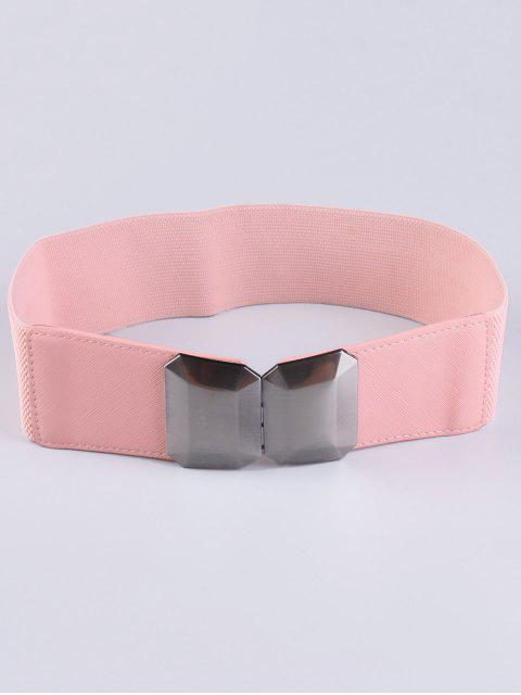 unique Smooth Alloy Buckle Elastic Waist Belt - PINK  Mobile
