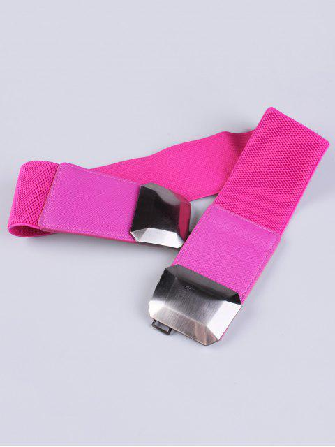 sale Smooth Alloy Buckle Elastic Waist Belt -   Mobile