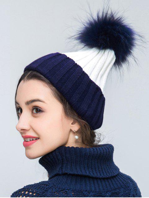 women's Knit Ribbed Pom Hat -   Mobile