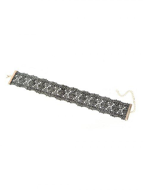 unique Vintage Lace Floral Choker -   Mobile
