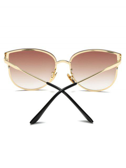 best Full Rims Butterfly Sunglasses - TEA-COLORED  Mobile
