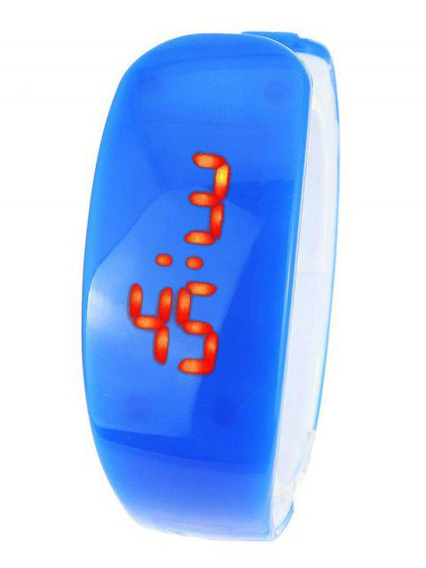 fashion Plastic LED Digital Watch - BLUE  Mobile