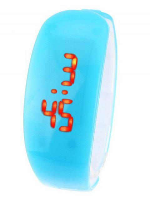 chic Plastic LED Digital Watch - AZURE  Mobile