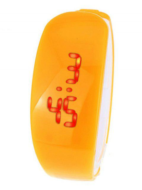 unique Plastic LED Digital Watch - ORANGE  Mobile