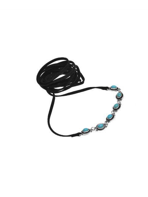 women's Faux Turquoise Bows Choker Necklace -   Mobile