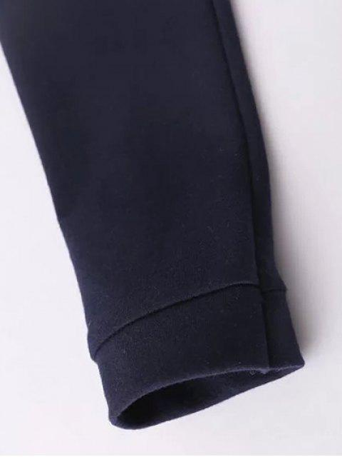 hot Floral Embroidered Raglan Sleeve Sweatshirt - PURPLISH BLUE L Mobile