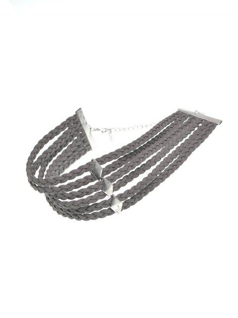 hot Braid Rope Choker Necklace -   Mobile