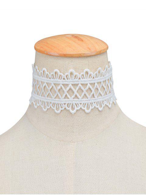 trendy Vintage Lace Crown Geometric Choker -   Mobile