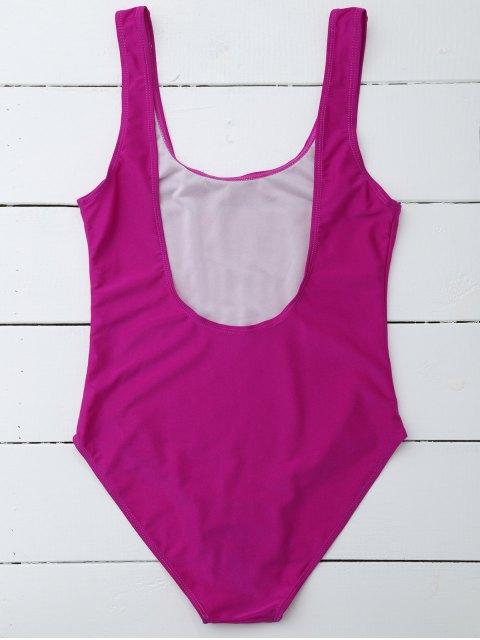 shops If Lost Letter Swimwear - PURPLISH RED XL Mobile