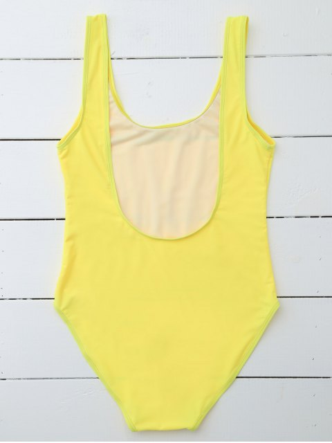 trendy Drunk Spice Swimwear - YELLOW XL Mobile