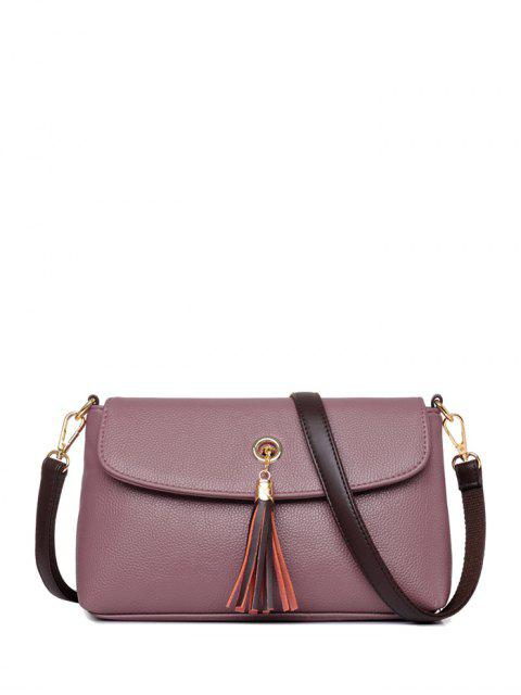 new PU Leather Eyelet Tassel Shoulder Bag -   Mobile