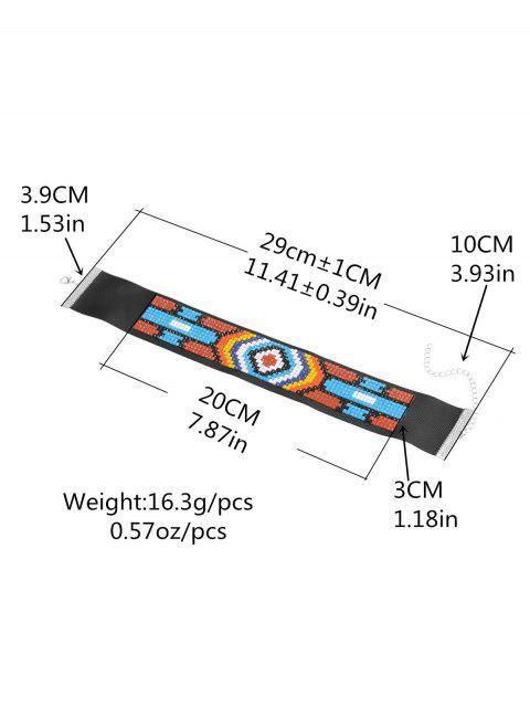 chic Mosaic Geometric Choker -   Mobile