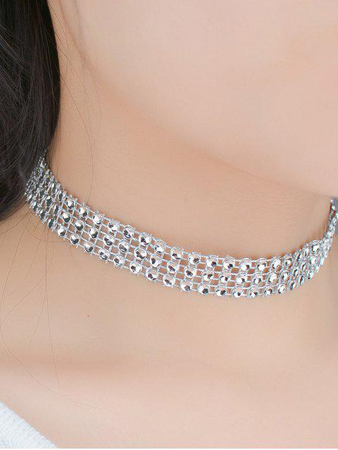 women Triple Layered Plastic Choker -   Mobile