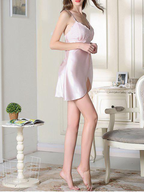 outfit Lace Satin Slip Sleep Dress - PINK XL Mobile