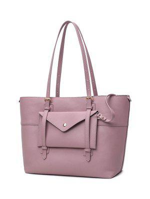 Buckle Strap PU-Leder-Handtaschen-Set