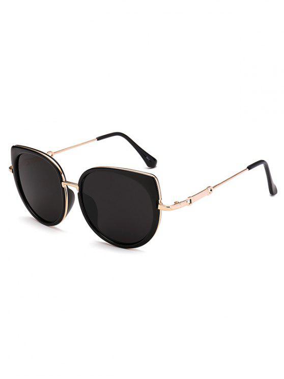 Gafas De Sol Marco Metálico Diseño Ojo De Gato - Negro