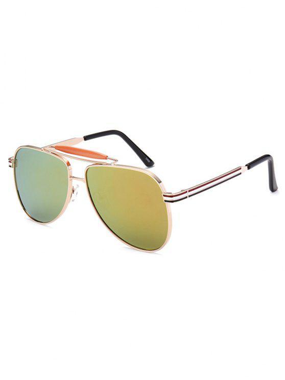 Lunettes de soleil style pilote anti uv verres effet - Miroir en forme de lunette ...