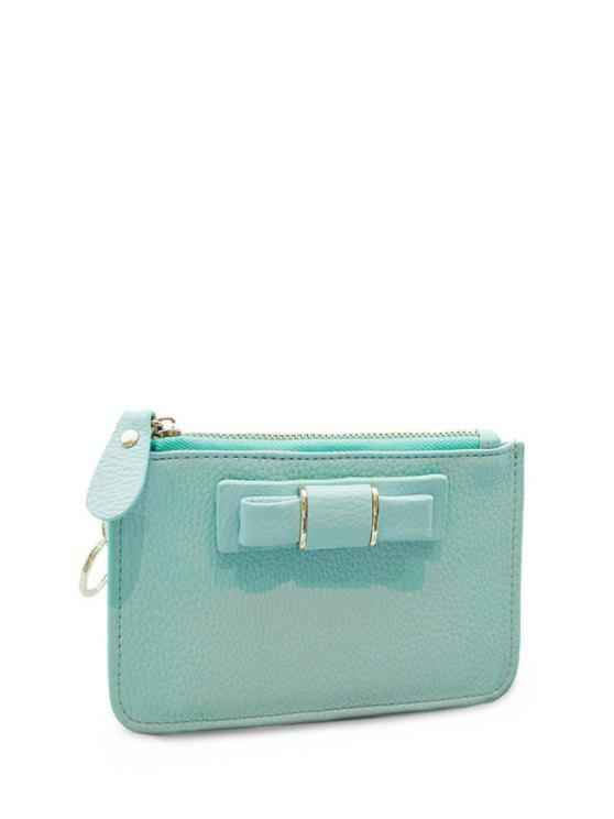 fashion Bowknot PU Leather Coin Purse - TIFFANY BLUE