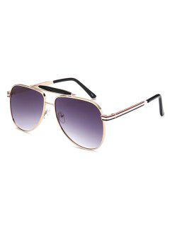 Pencil Leg Crossbar Pilot Sunglasses - Deep Purple