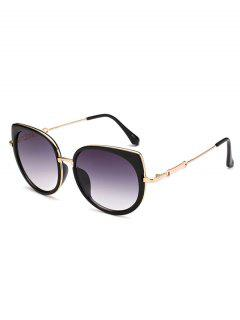 Gafas De Sol Marco Metálico Diseño Ojo De Gato  - Morado Oscuro