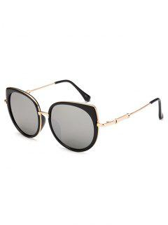 Cat Eye Mirror Sunglasses - Silver