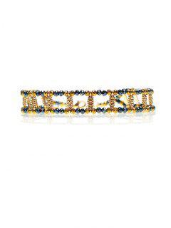 Collier Court Vintage Orné Perles Et Faux Diamants - Or