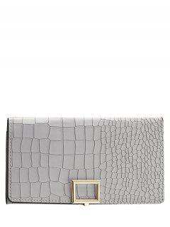 Stone Pattern Tri Fold Wallet - Light Gray