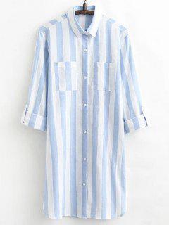 Camisa De Vestir De Manga Larga A Rayas - Raya