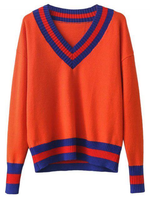 women's V Neck Cricket Sweater - JACINTH ONE SIZE Mobile