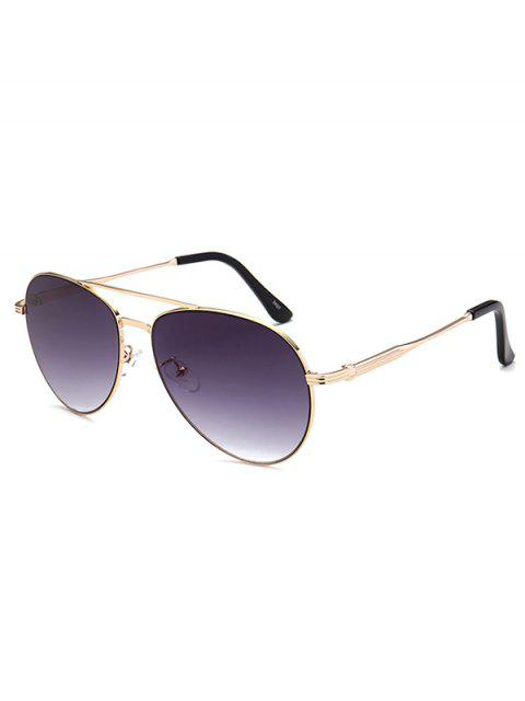 buy Metal Crossbar Pilot Sunglasses - DEEP PURPLE  Mobile