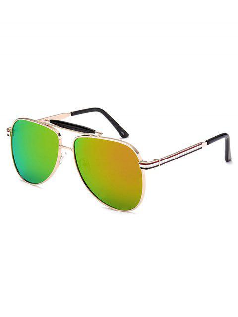 outfit Pencil Leg Pilot Mirrored Sunglasses -   Mobile