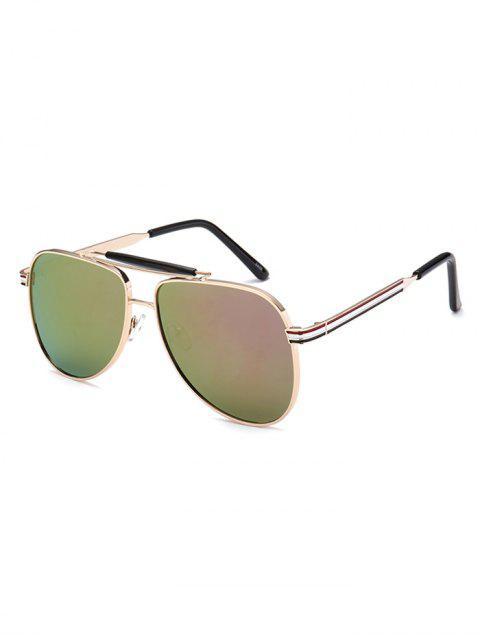 shop Pencil Leg Pilot Mirrored Sunglasses -   Mobile