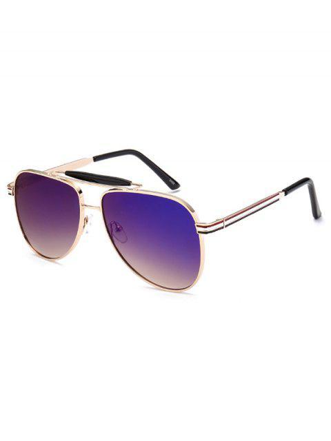 shops Pencil Leg Pilot Mirrored Sunglasses -   Mobile