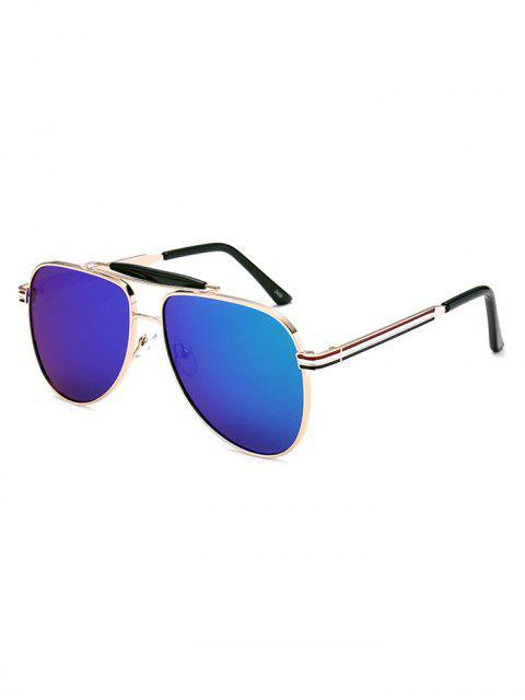 trendy Pencil Leg Pilot Mirrored Sunglasses -   Mobile