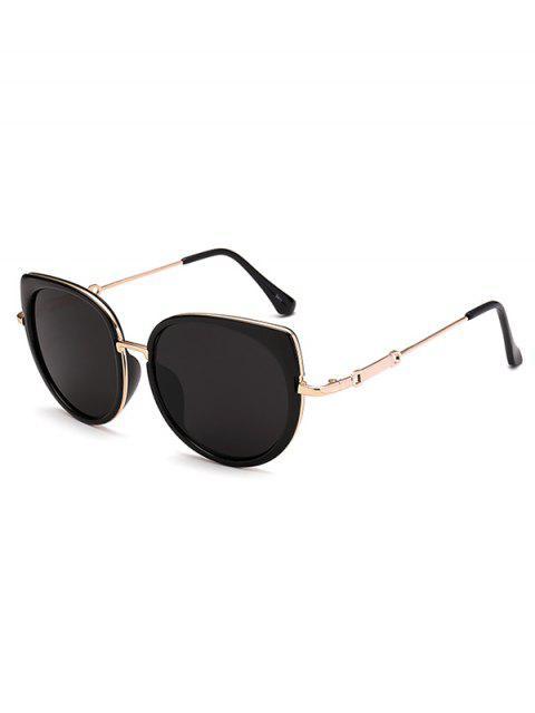 Gafas De Sol Marco Metálico Diseño Ojo De Gato - Negro  Mobile