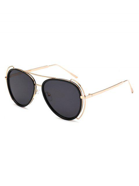 hot Hollow Out Frame Pilot Sunglasses -   Mobile