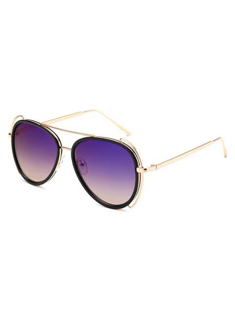outfits Hollow Out Frame Pilot Sunglasses -   Mobile